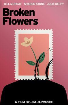 Broken Flowers (2005) ~ Minimal Movie Poster by Fatih Senturk ~ Jim Jarmusch Series #amusementphile