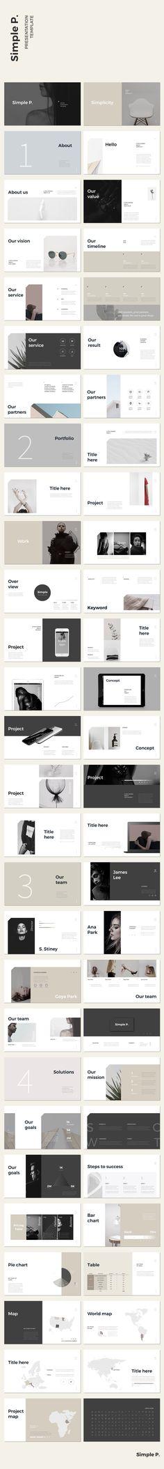 Simple P. Presentation Template #keynote #presentation #portfolio #business #marketing