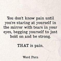 PAIN quote | Word Porn                                                                                                                                                      More