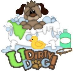 U Dirty Dog Patterns & Cutting Files (SVG,WPC,GSD,DXF,AI,JPEG)