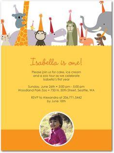 Zoo party invitations