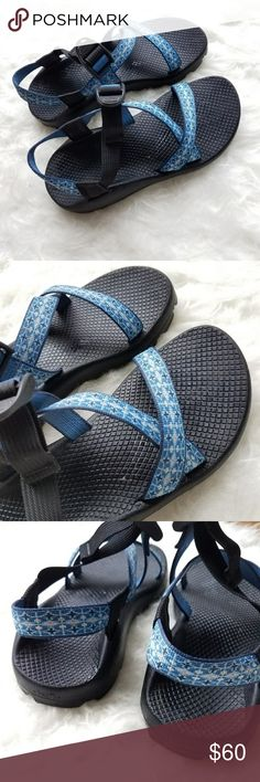 Blue Chaco's women's 7 super cute barely worn chaco's excellent condition! Chaco Shoes Sandals