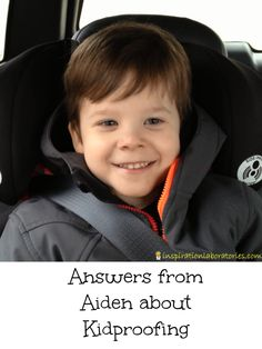 Aiden answers questions about kidproofing in these videos sponsored by Chevy/GM.