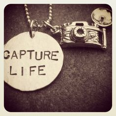Capture Life Necklace Photographer Camera Charm Hand Stamped Jewelry by Kristen's Custom Creations Quotes About Photography, Tumblr Photography, Photography Tips, Family Photography, Photography Business, Photography Office, Inspiring Photography, Photography Camera, Jewelry Photography
