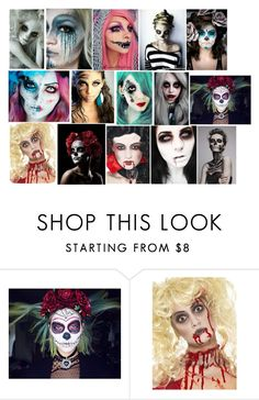 """""""Halloween Make Up"""" by teenwarrior ❤ liked on Polyvore featuring beauty"""