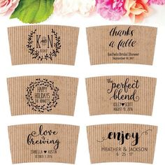 10 Rustic Personalised Pocket Tissues Wedding Favour Tears