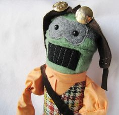Stuffed steampunk doll by yermit, via Flickr