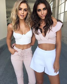 When your outfit is on point! Two toned outfits for you and your bestie got you looking like Kendal & Gigi!  #tagyourbestie