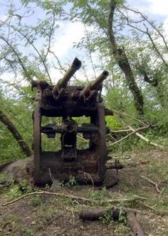 WWII - The Pacific: Japanese AA gun - Guam.  Located on Big Navy, past the old telegraph ruins.