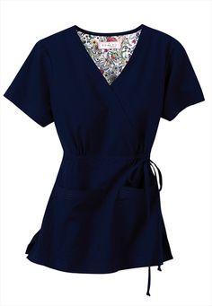 Koi Katelyn mock-wrap scrub top my favorite tops! Dental Scrubs, Medical Scrubs, Nursing Scrubs, Cute Scrubs, Koi Scrubs, Medical Uniforms, Work Uniforms, Doula, Royal Blue Scrubs