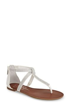 48e8a7df464 Jessica Simpson  Garreth  Studded Leather Thong Sandal (Women) available at   Nordstrom