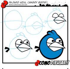 Como dibujar al pájaro azul de Angry Birds: http://www.comodibujar.es/aprender-dibujar/personajes-de-videojuegos/dibujar-angry-birds/como-dibujar-al-pajaro-azul-de-angry-birds/