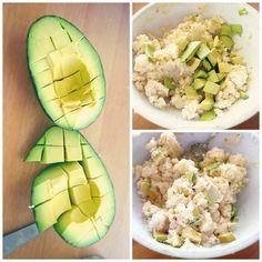 Garlic Parmesan Avocado Cauliflower Mash by simplytaralynn #Cauliflower #Avocado #Healthy