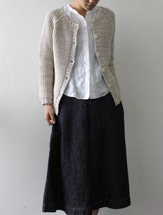 [Envelope Online Shop] Blida Lisette bottoms, like the skirt Mode Style, Style Me, Mode Outfits, Casual Outfits, Look Fashion, Womens Fashion, Yohji Yamamoto, Modest Fashion, Beautiful Outfits