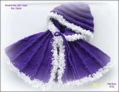 free cape pattern for American Girl dolls This is crochet BUT I could do this with velvet!