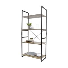 Industrial 4 Tier Bookshelf | Kmart