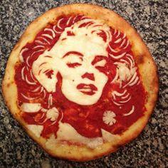 Portraits of celebrities, Pizza Art by Domenico Crolla