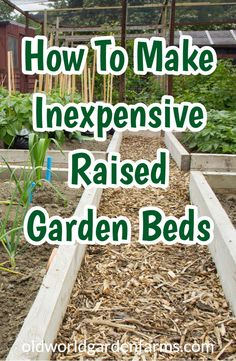 to make simple and inexpensive Raised Beds for your garden. Save money and build them yourself! How to make simple and inexpensive Raised Beds for your garden. Save money and build them yourself! Raised Vegetable Gardens, Vegetable Garden Design, Vegetable Gardening, Raised Gardens, Veggie Gardens, Building A Raised Garden, Diy Raised Garden Beds, Wood For Raised Beds, Eco Garden