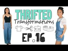 Thrifted Transformations | Ep. 16 (DIY Romper) - YouTube