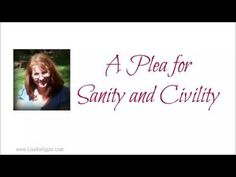 A Plea For Sanity