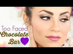 Valentine's Day Date Night Makeup! Chocolate Bar Brown & Purple Eyeshadow Tutorial | Angela Lanter - YouTube