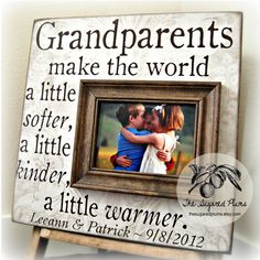 Custom Grandparents Picture Frame Mothers Day by thesugaredplums