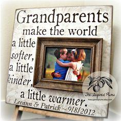 Grandparent, Gifts for Grandparents, Grandparent Gift, Granparents Picture Frame, Grandma, Grandpa, Grandparents Day, 16x16 Make the World