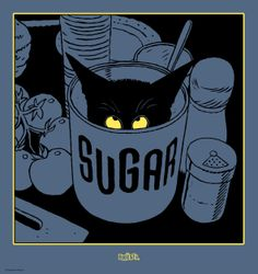 Ex Libris Sugar by Serge Baeken for comic galery Brüsel (Brussels, Belgium)