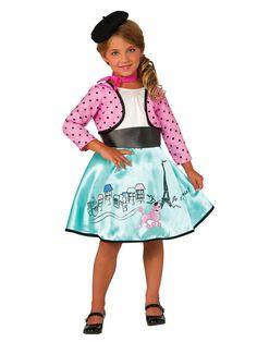 Girls Petite Parisienne Costume