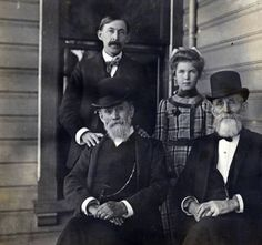 Slocum with William Hazzard (standing), C. Knowles and daughter, Ruth. Vancouver Washington, Clark County, Hudson Bay, Military Army, Historical Photos, Pacific Northwest, Old Photos, Castles