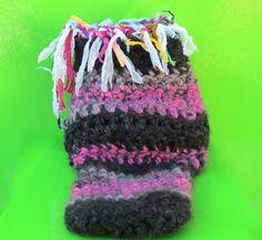 Funky Handmade Chunky Boho Bootie Socks  Raspberry by ArtisticFunk, $15.00