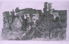 Giorgio Morandi, Hillside in the Evening