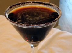 Mounds Martini Recipe  4 oz coconut rum 4 oz chocolate liquer (clear or brown, your choice) 1. Pour both into a martini shaker with 3 ice cubes and strain into a martini glass. Enjoy. I've rimmed the glass with chocolate milk mix and a mixture of cocoa and powdered sugar, but the martini is wonderful by itself. 2. Sometimes you feel like a nut... add 2 ounces of Kahlua for an Almond Joy martini. 3. If you are making this recipe ahead, skip the ice and just chill in fridge,