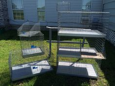 RL Rabbitry (April 25, 2015): Thank you Dave the Cage Man in Canton, Tx. I got a 3 stacker- 24x36, 1 individual 24x36, an 18x18 quarantine cage, 1 wire nestbox, 1 grooming shelf that attaches to the cage, and a free mini baby carrier for only $170.