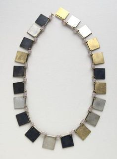 Herman Hermsen - Little Books necklace, 1998 18ct gold, 14ct gold, silver, rock crystal - ∅ 21 cm