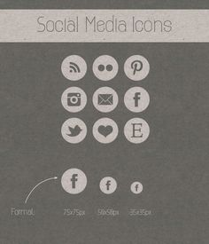 really picky about social media icons