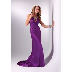 Beautiful Sexy Long Purple Masquerade Prom Dresses for 2012