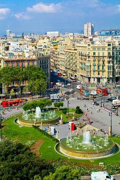 Plaça Catalunya, Barcelona, Catalonia
