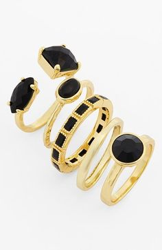 Ariella Stone Stackable Rings