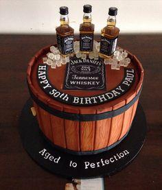 Jack Daniel's inspired cake