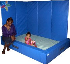 Our Vibro-Tactile Sensory Corner was developed for your over-stimulated, difficult to calm child. The vibration from the floor gives the child an over-all calming sensation. - This would be awwesome to have Sensory Room Autism, Sensory Rooms, Sensory Activities, Therapy Activities, Motor Activities, Sensory Motor, Sensory Play, Sensory Tubs, Multi Sensory
