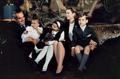 La Princesse Stéphanie De Monaco en 1966, avec Grace, Rainier, Caroline et Albert