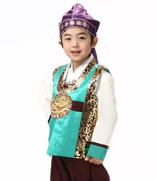 Little boy Korean Hanbok dress