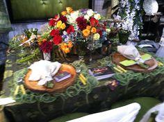 Fun table setting.