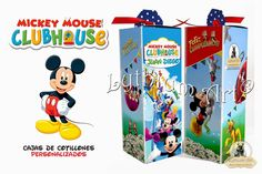 Cajas para Cotillones Infantiles Personalizados (Mickey Mouse Club House)   Lythium Art® Design by: Yil Siritt