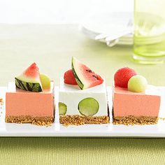 Melon Icebox Cake