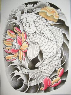 Find the desired and make your own gallery using pin. Drawn koi fish oriental - pin to your gallery. Explore what was found for the drawn koi fish oriental Koi Dragon Tattoo, Pez Koi Tattoo, Dragon Koi Fish, Carp Tattoo, Japanese Koi Fish Tattoo, Koi Fish Drawing, Japanese Tattoo Designs, Fish Drawings, Koi Tattoo Design