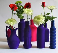 johnny Egg eclectic vases