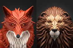 Moscow-based illustrator Maxim Shkret conjurs the flowing hair of people and the tangled fur of beasts in this lovely ongoing series of digital illustrations. Mixing a unique method of 3d modeling with carefully applied shadows, each piece evokes the form of a paper-like sculpture. You can see more