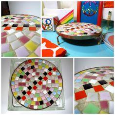 VTG 1960s MID Century Modern Mosaic Ceramic Tile Art Trivet Hot Plate Tray  #MidCenturyModernRetro Ceramic Tile Art, Mosaic Art, Cheese Boards, Mid-century Modern, 1960s, Tiles, Tray, Mid Century, Plates